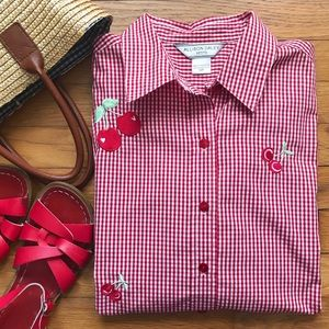 Vintage 🍒 Cheery Cherry Blouse